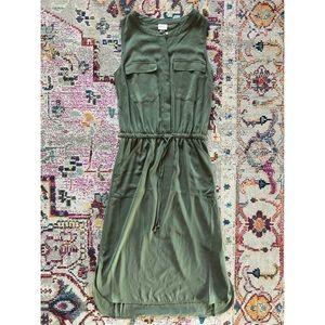 Merona Sleeveless Olive Green Dress